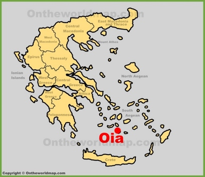 Oia Location Map