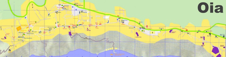 Oia tourist map