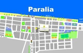 Paralia tourist map