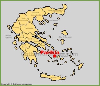 Parikia Location Map