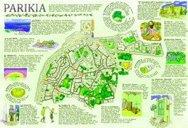 Parikia tourist map