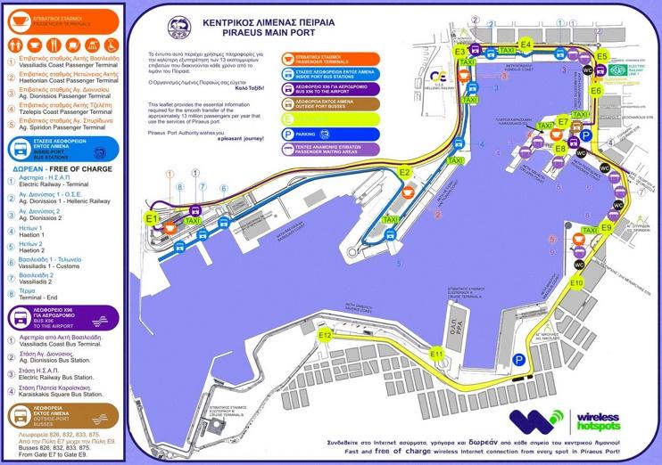 Piraeus port map
