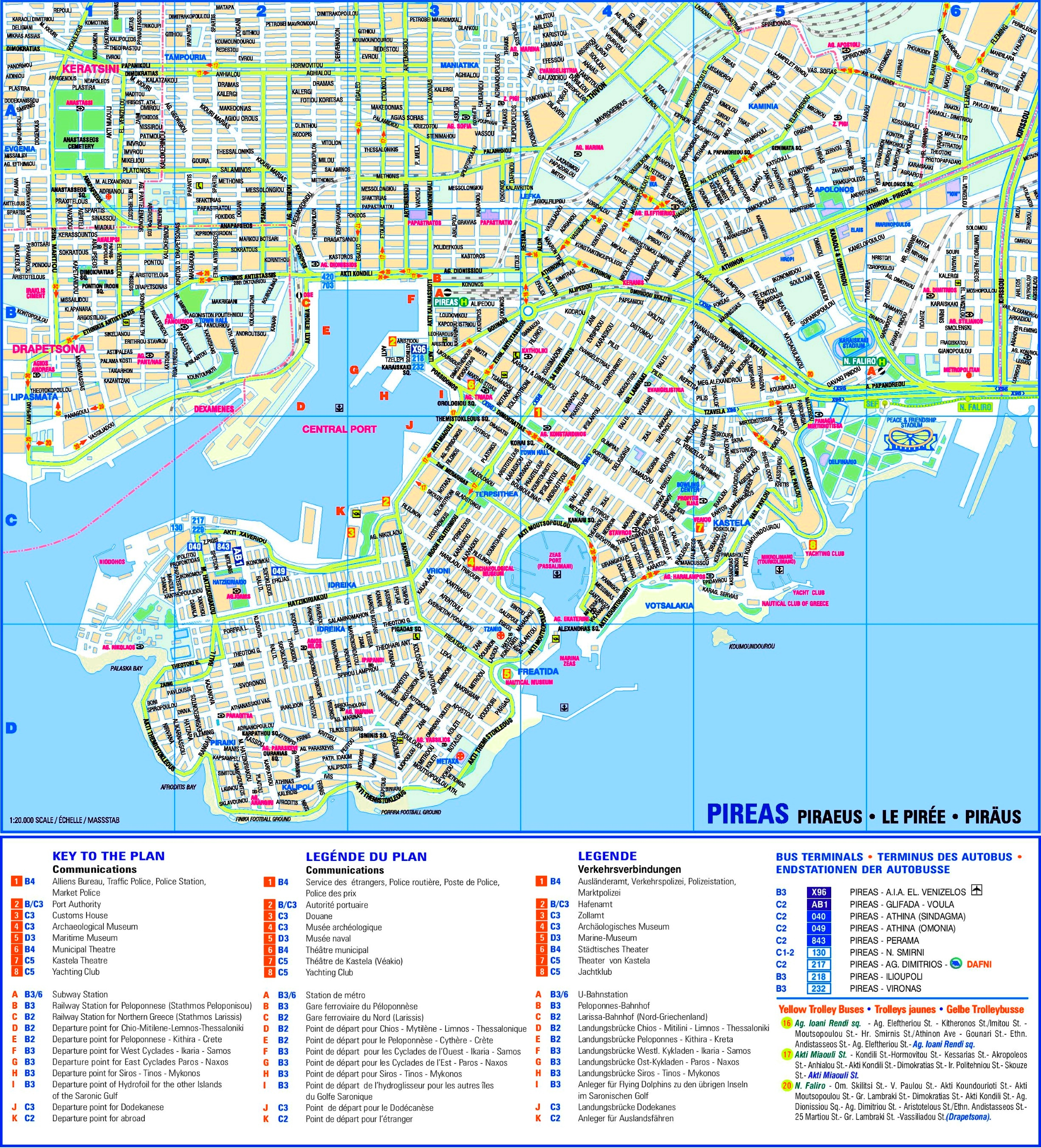 Piraeus Sightseeing Map