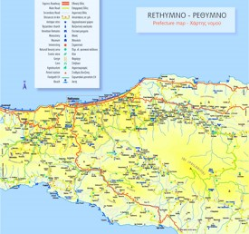 Rethymno area map