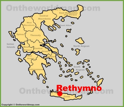 Rethymno Location Map
