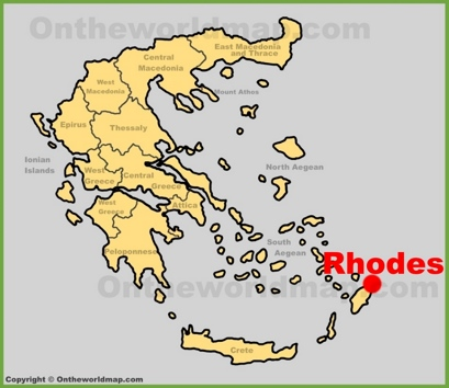 Rhodes City Location Map