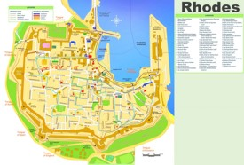 Rhodes City old town map