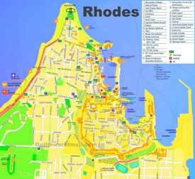 Rhodes City tourist map