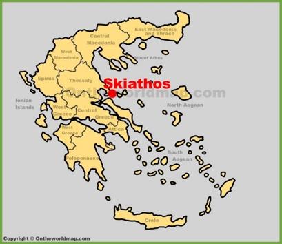 Skiathos Town Location Map
