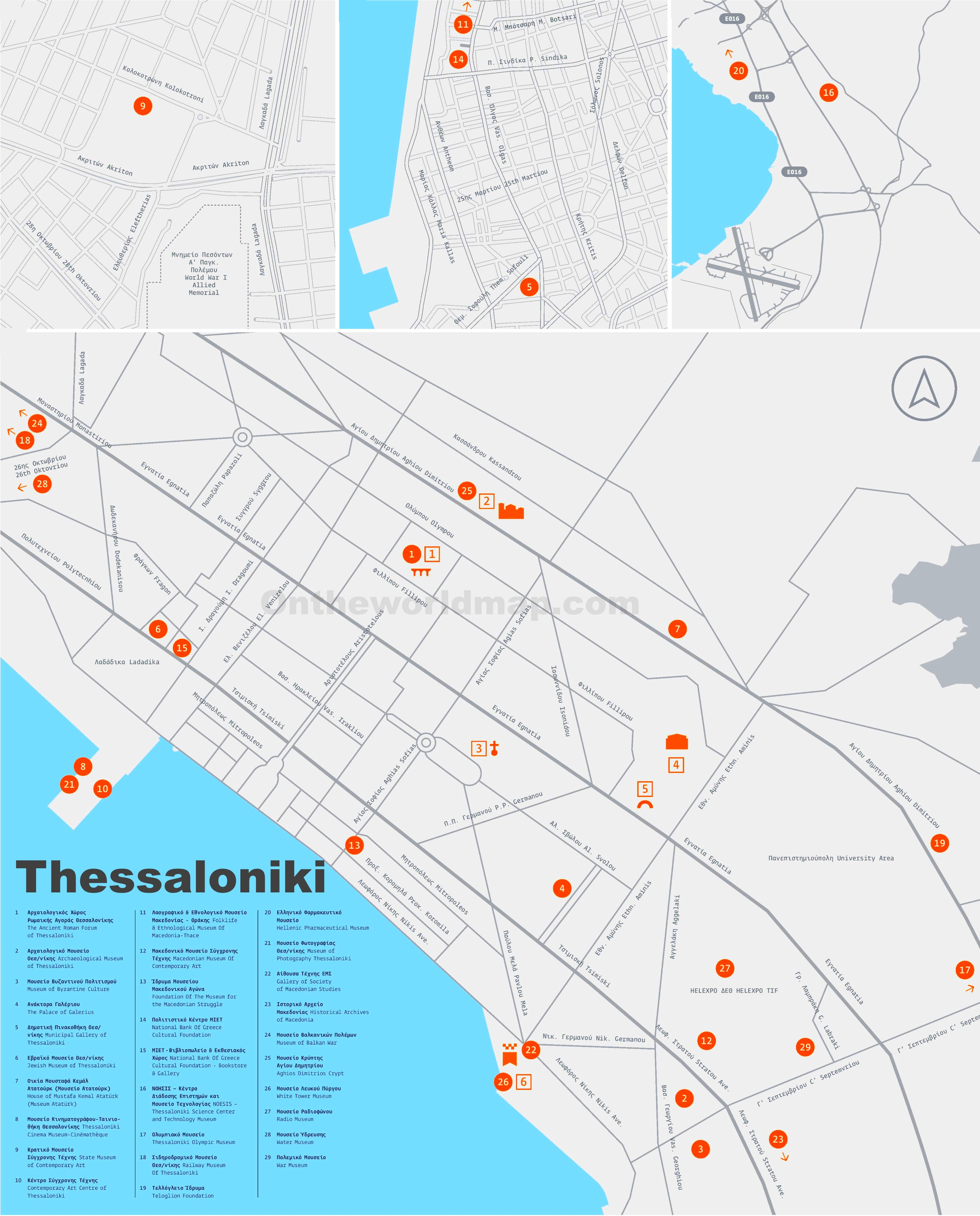 Thessaloniki museums map