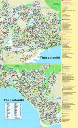 Thessaloniki sightseeing map