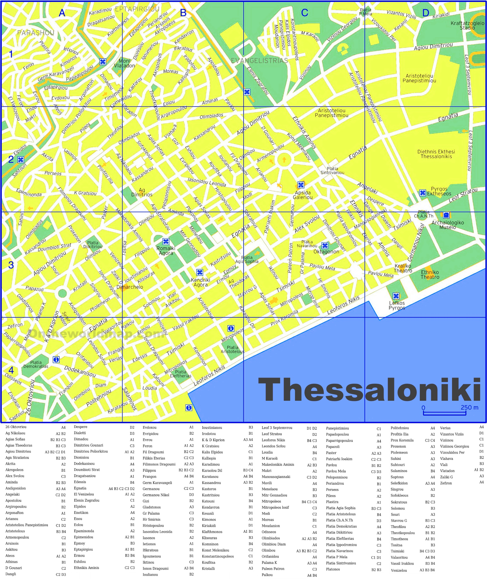 Thessaloniki street map