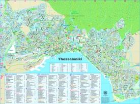 Thessaloniki tourist map