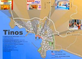 Tinos Town tourist map