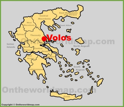 Volos Location Map