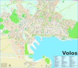 Volos tourist map
