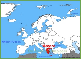 Greece location on the Europe map