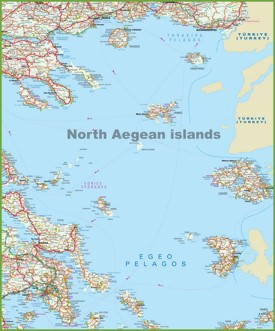North Aegean Islands map