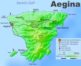 Aegina tourist map