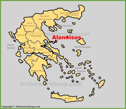 Alonnisos Location Map