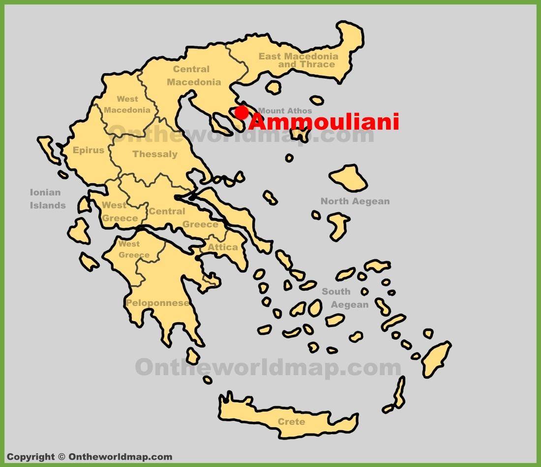 Ammouliani location on the Greece map