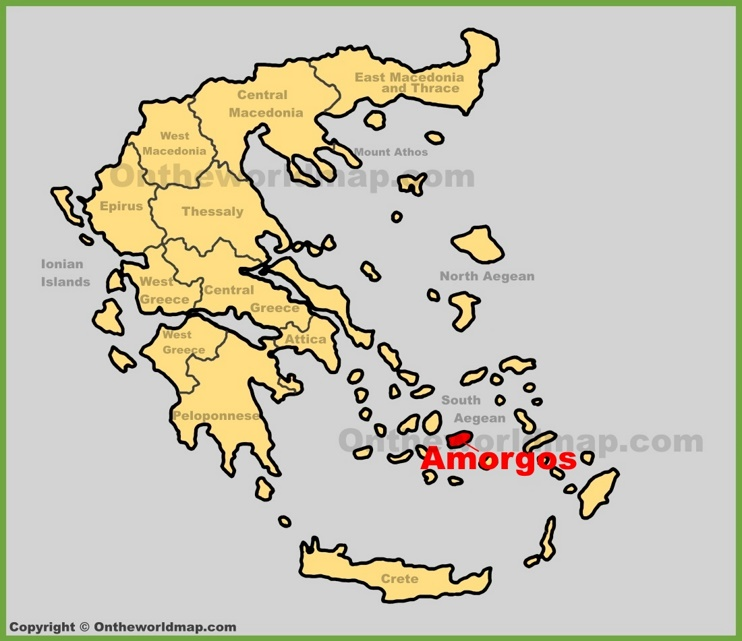 Amorgos location on the Greece map