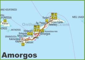 Amorgos tourist map