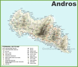 Andros tourist map