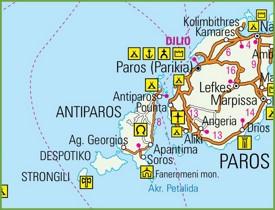 Antiparos road map