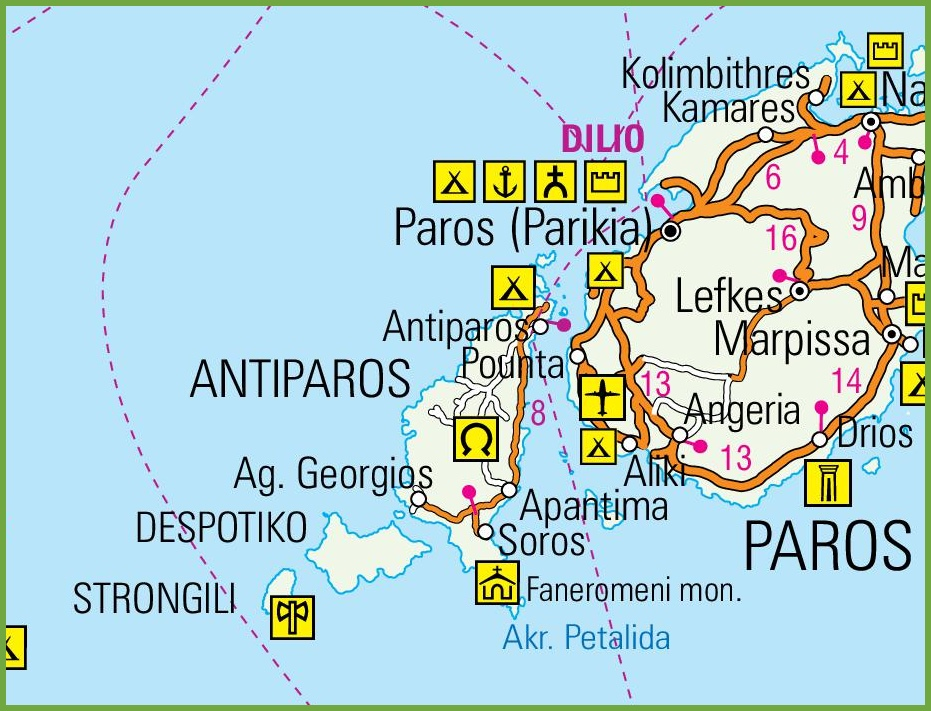 Antiparos road map