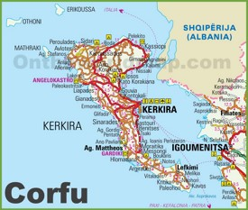 Corfu tourist map