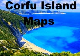 Corfu island maps