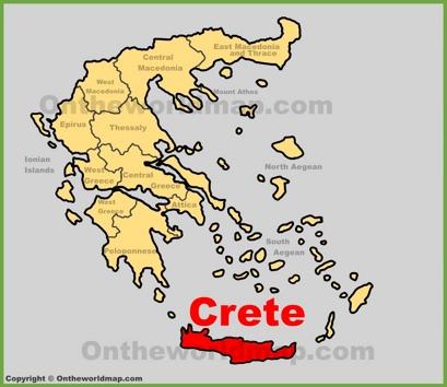 Crete Location Map