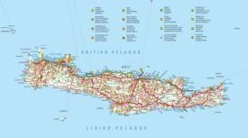 Crete tourist attractions map