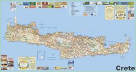 Crete tourist map