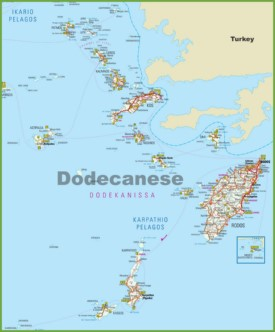 Dodecanese tourist map