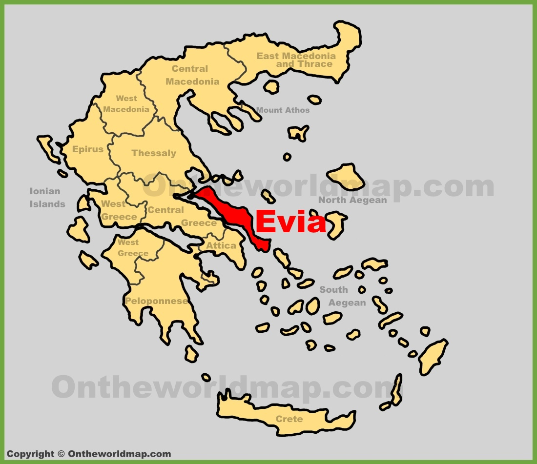 Evia Maps Greece Maps of Evia Island Euboea