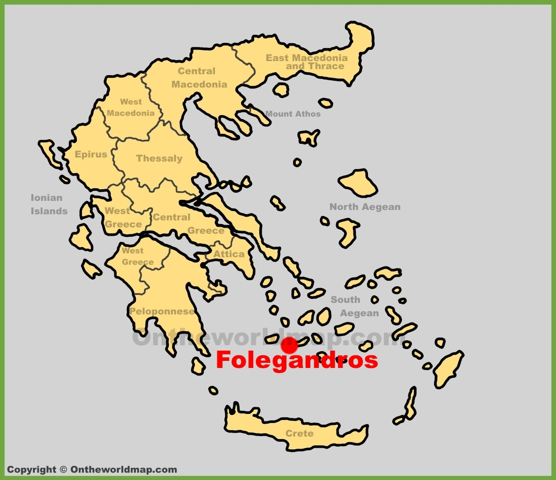 Folegandros location on the Greece map