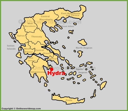 Hydra Maps Greece Maps of Hydra Island