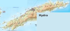 Large detailed map of Hydra