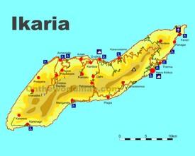 Ikaria tourist map