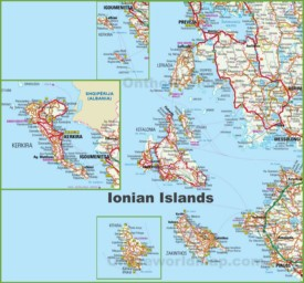 Ionian Islands tourist map