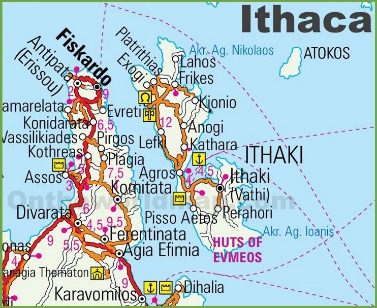 Ithaca Maps Greece Maps of Ithaca Island Ithaka