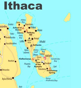 Ithaca sightseeing map