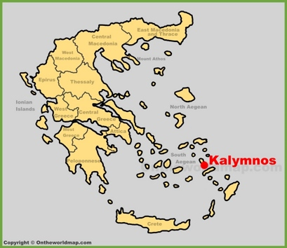 Kalymnos Location Map