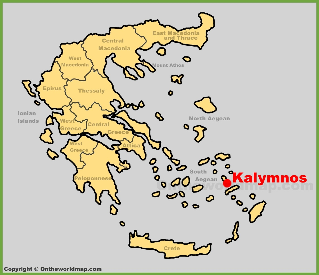 Kalymnos location on the Greece map