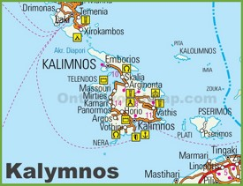 Kalymnos road map