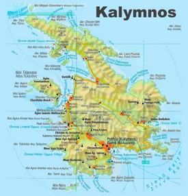 Kalymnos sightseeing map