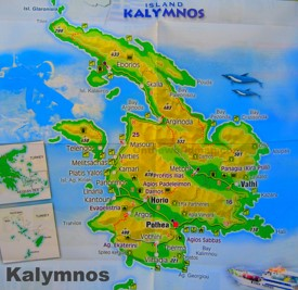 Kalymnos tourist map
