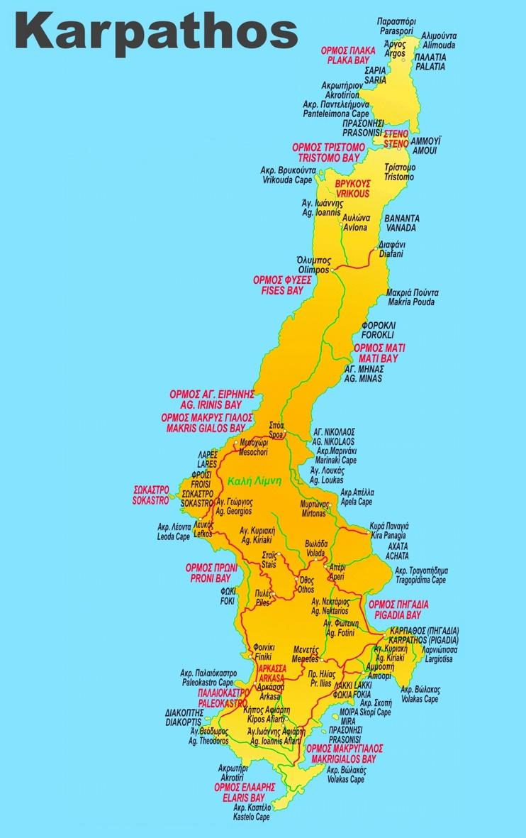 Karpathos Travel Map